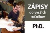 Zápisy študentov do vyšších rokov štúdia na doktorandskom štúdiu  na ak. rok 2018/2019