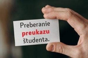 Prevzatie preukazu študenta